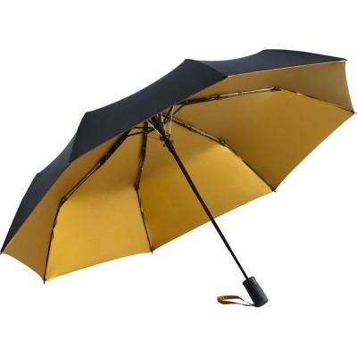 Складна парасолька Fare 5529 чорна/золота