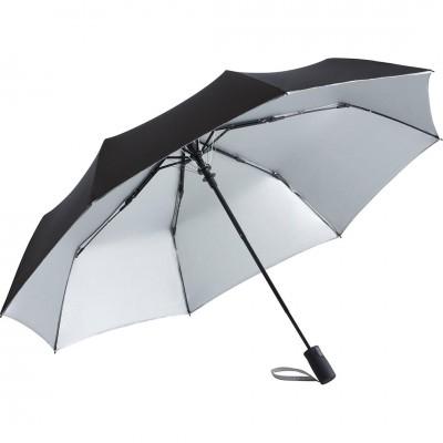 Складна парасолька Fare 5529 чорна/срібна