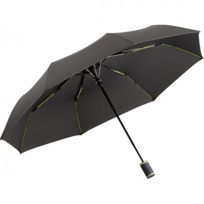 Складна парасолька Fare 5583 антрацит/лайм