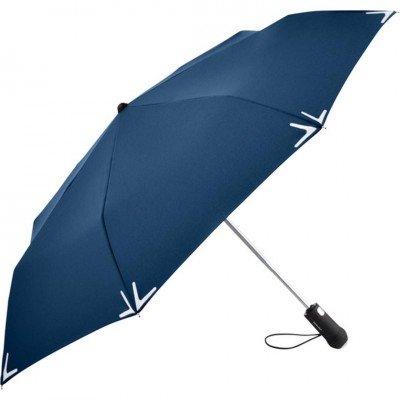 Складной зонт Fare 5471 синий автомат с фонариком