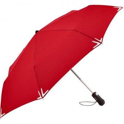 Складной зонт Fare 5471 красный автомат с фонариком