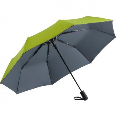Складной зонт Fare 5529 лайм/серый