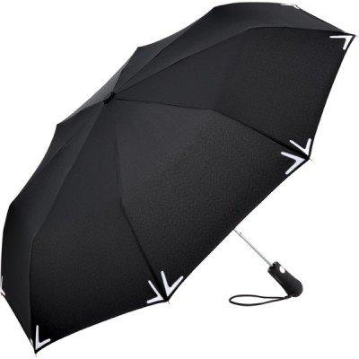 Складной зонт Fare 5571 черный с фонариком