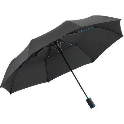 Складна парасолька Fare 5583 антрацит/бірюзова