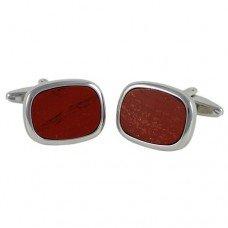 Запонки Georges Chabrolle 0371 с красной яшмой