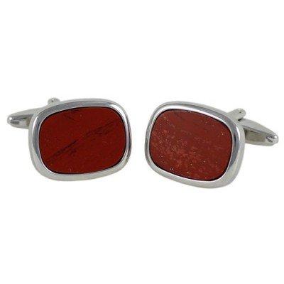 Запонки Georges Chabrolle 0371 з червоною яшмою